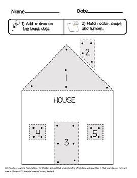 SPED Preschool One to One correspondence house activity