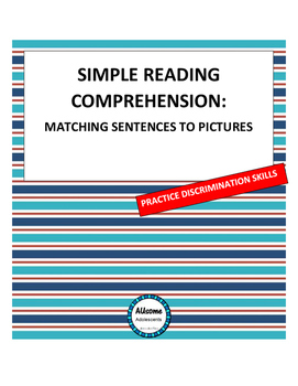 SPED READING COMPREHENSION - Leveled Sentences