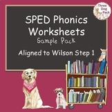SPED/RTI Phonics Worksheets--Sample Pack--3rd grade & up--