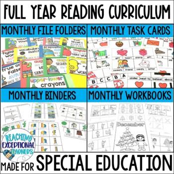 SPED Reading Binder Full Year BUNDLE