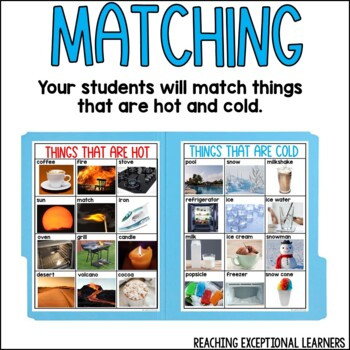 SPED Science: Hot or Cold File Folder Activity