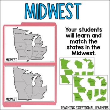 SPED Social Studies: US Regions & States File Folder Activities