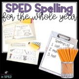 SPED Spelling For the Whole Year!
