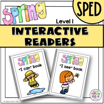 SPED Spring Adapted Reading Books level 1
