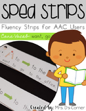 SPED Strips Set 1 {Fluency Strips for SPED} Core Vocabulary Sentence Strips AAC