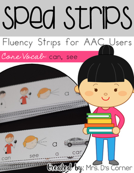 SPED Strips Set 2 {Fluency Strips for SPED} Core Vocabulary Sentence Strips AAC
