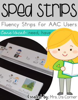 SPED Strips Set 3 {Fluency Strips for SPED} Core Vocabular