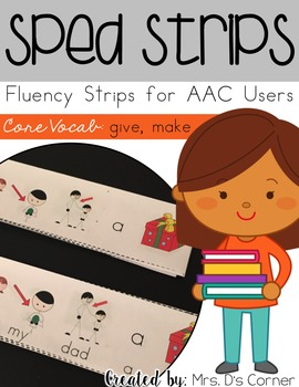 SPED Strips Set 6 {Fluency Strips for SPED} Core Vocabulary Sentence Strips AAC
