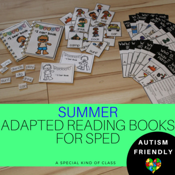 SPED Summer Adapted Reading Books level 1