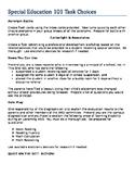 SPED Teacher Activities for Professional Development