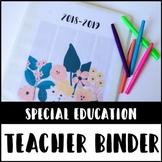 SPED Teacher Binder