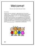 SPED Welcome Letter (EDITABLE)