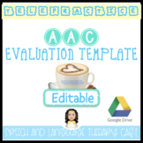 SPEECH AND LANGUAGE EVALUATION REPORT TEMPLATE FOR STUDENT