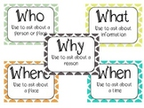 SPEECH AND LANGUAGE WH QUESTIONS - Worksheets and Posters
