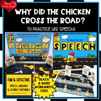 SPEECH ARTICULATION  worksheets LOW PREP NO PREP CHICKEN ROAD