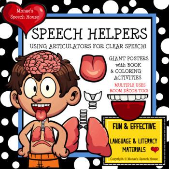 SPEECH HELPERS POSTER worksheets Speech Therapy Speech Room Decor