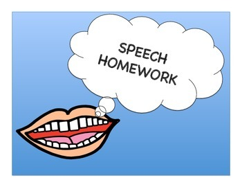 SPEECH HOMEWORK - ARTICULATION