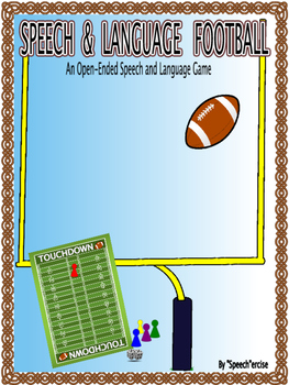 SPEECH & LANGUAGE FOOTBALL-An Open-Ended Speech and Language Game