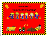 SPEECH SKILLS UNDER CONSTRUCTION SPEECH BULLETIN BOARD SET