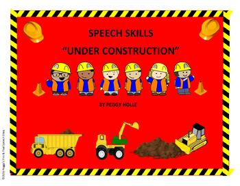 SPEECH SKILLS UNDER CONSTRUCTION SPEECH BULLETIN BOARD SET