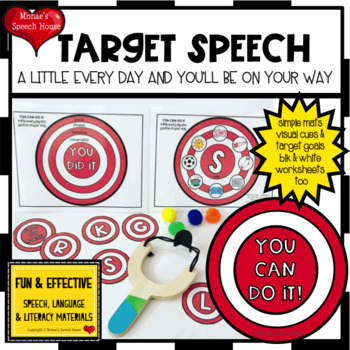 SPEECH TARGETS ARTICULATION  worksheets LOW PREP NO PREP (Target Dollar Spot)