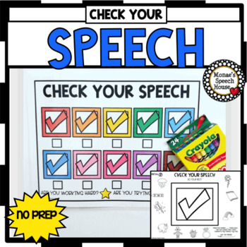 SPEECH THERAPY ARTICULATION NO PREP worksheets CHECK YOUR SPEECH