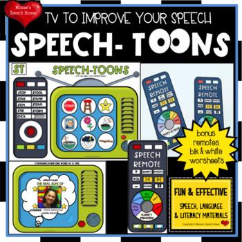 SPEECH ARTICULATION  worksheets LOW PREP NO PREP VOICE CHART TV REMOTE