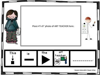 SPEECH THERAPY Add-On - PEOPLE AT MY SCHOOL Photo Booklet boardmaker autism
