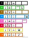 SPEECH THERAPY Boardmaker Sentence Strips All About Me for School AUTISM