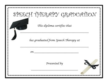 speech therapy diplomas graduation certificates by speech and