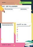 SPEECH THERAPY IEP PLANNER