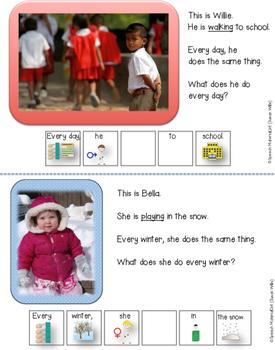 SPEECH THERAPY Interactive book grammar VERB+S VERB+ES third person singular