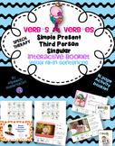 SPEECH THERAPY Interactive book grammar VERB+S VERB+ES thi