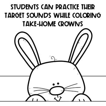 SPEECH THERAPY:  NO PREP Bunny Articulation Headband Crown