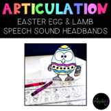SPEECH THERAPY:  NO PREP Easter Articulation Headband Crowns