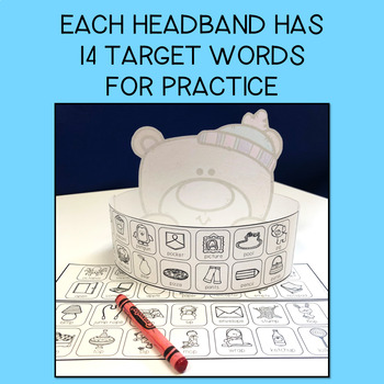 SPEECH THERAPY:  NO PREP Polar Bear Articulation Headband Crown