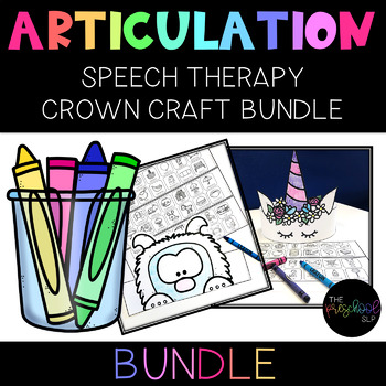 SPEECH THERAPY:  NO PREP Theme Articulation Headbands BUNDLE