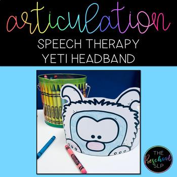 SPEECH THERAPY:  NO PREP Yeti Articulation Headband Crown