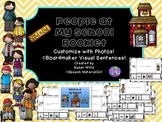 SPEECH THERAPY PEOPLE AT MY SCHOOL visual  Photo Booklet AUTISM boardmaker