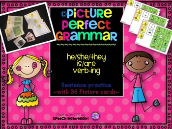 SPEECH THERAPY PICTURE PERFECT GRAMMAR he/she/they pronoun present tense