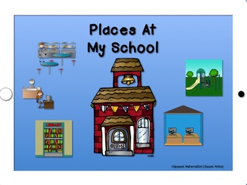 SPEECH THERAPY - PLACES AT MY SCHOOL visual sentence stripsPhoto Booklet Autism