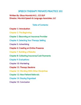 Speech therapy Private Practice-guide to opening half Price