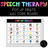 SPEECH THERAPY: Pop Up Pirate AAC Core Board Game Companion