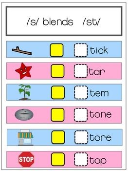 SPEECH THERAPY S Blend ARTICULATION Initial Consonant Deletion