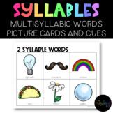 SPEECH THERAPY: Syllable Identification, Multi-Syllabic Wo