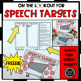 FREEBIE SPEECH THERAPY TRINKET DINKY DOODADS MATS! PARENT HANDOUTS NO PREP