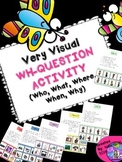 SPEECH THERAPY Wh-Question w/ visual answers autism Who What Where Why When