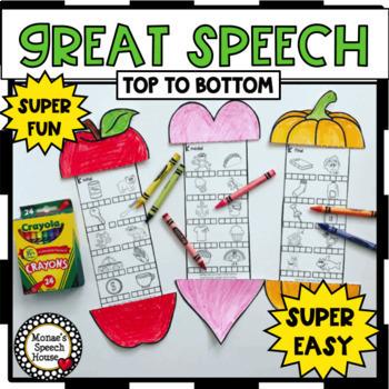 YEAR-ROUND NO PREP worksheets 70 THEMES SPEECH articulation EASY CRAFT