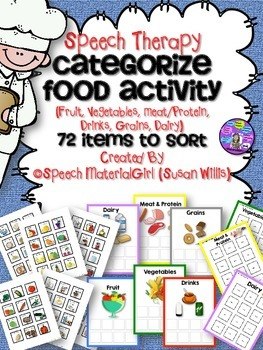 SPEECH THERAPY food group categories sort fruit vegetables meat protein dairy +