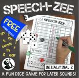 SPEECH-ZEE An Articulation Dice Game FREEBIE (game companion)